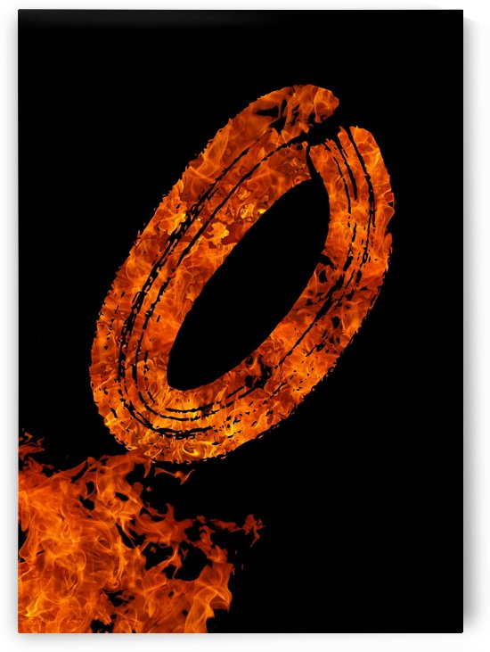 Burning on Fire Letter O by Artistic Paradigms