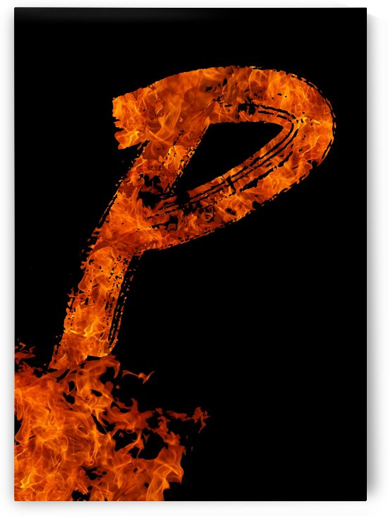 Burning on Fire Letter P by Artistic Paradigms
