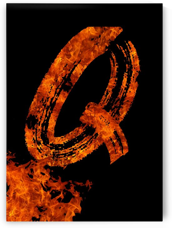 Burning on Fire Letter Q by Artistic Paradigms