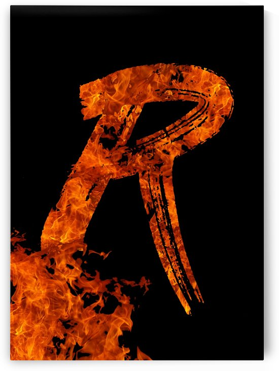 Burning on Fire Letter R by Artistic Paradigms