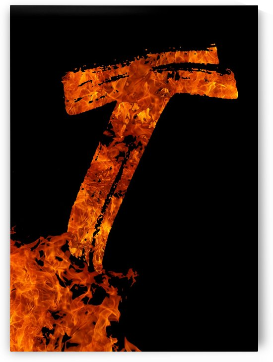 Burning on Fire Letter T by Artistic Paradigms