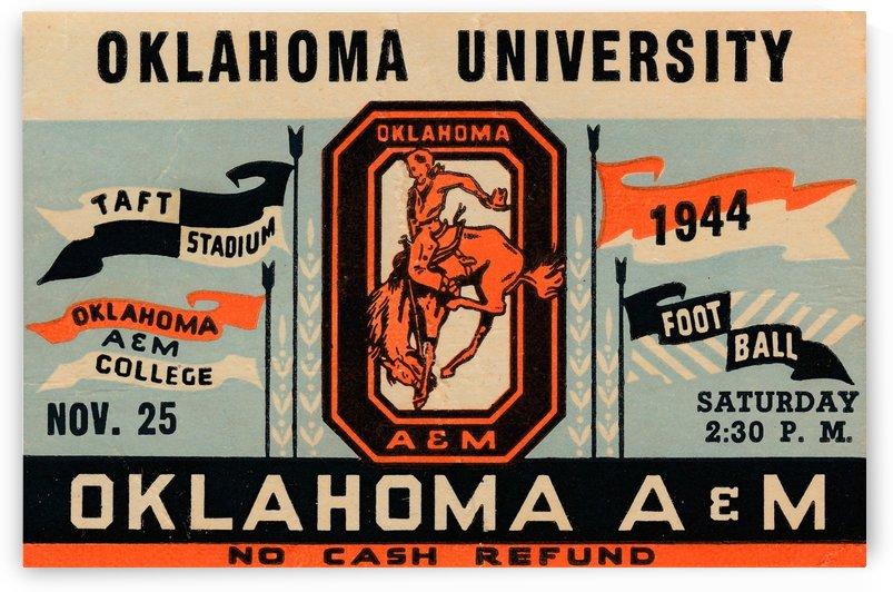 1944 Oklahoma vs. Oklahoma A&M by Row One Brand