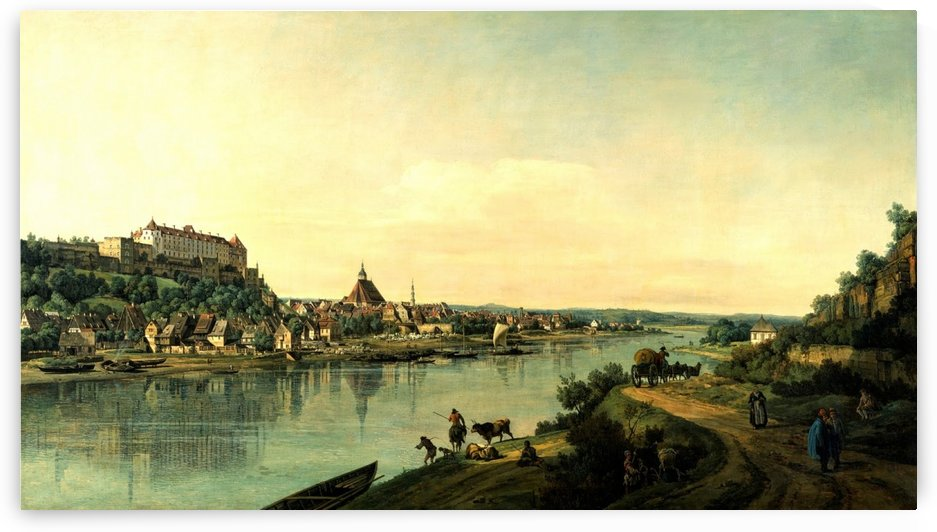 Along the river by Bernardo Bellotto