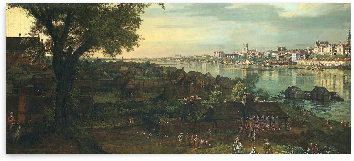 View of Warsaw from Prague by Bernardo Bellotto