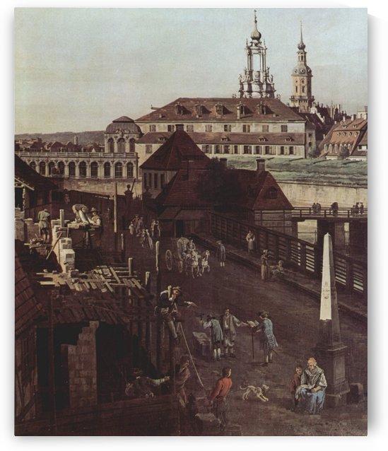 Errichtung der Saulen by Bernardo Bellotto