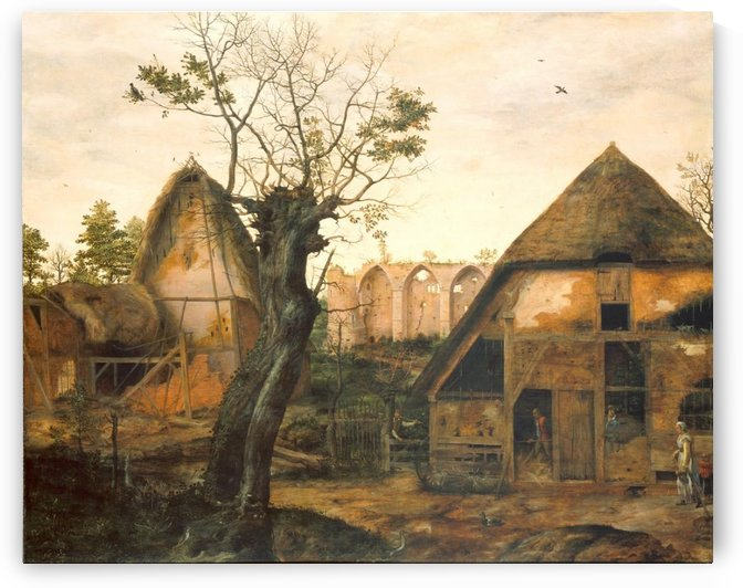 Landscape with Farmhouse by Cornelis Van Dalem