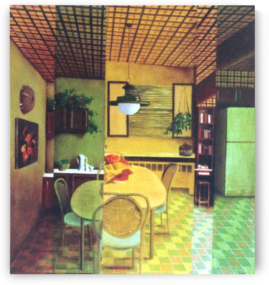 Retro Kitchen by Lisa Bates