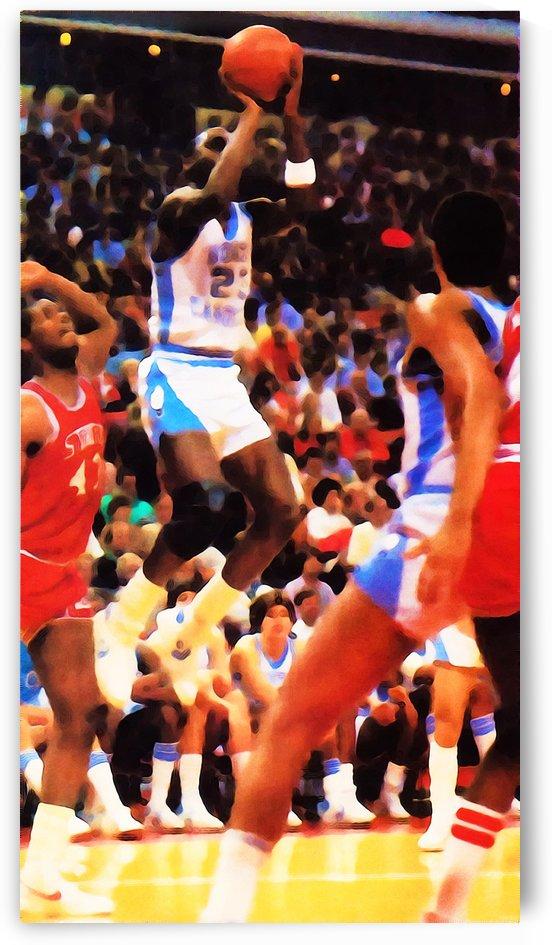 Michael Jordan North Carolina Jump Shot by Row One Brand