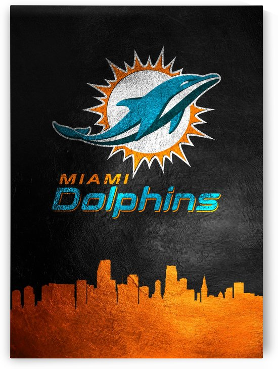 Miami Dolphins Skyline by ABConcepts
