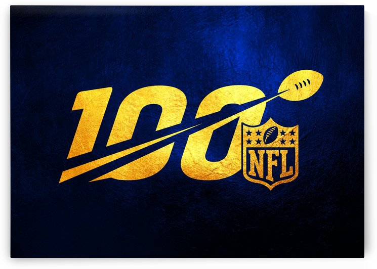 Nfl 100 Blue and Gold Skyline by ABConcepts