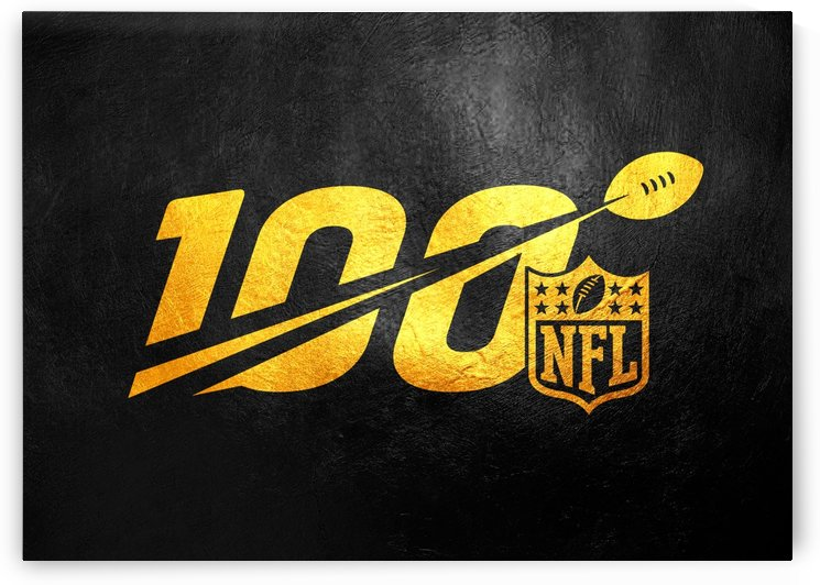 Nfl 100 Gold Skyline by ABConcepts