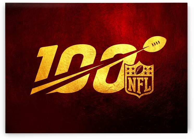 Nfl 100 Red and Gold Skyline by ABConcepts