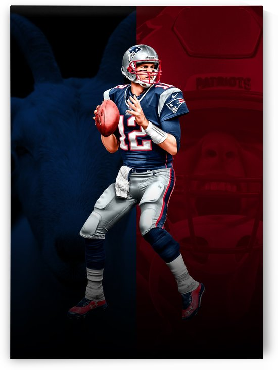 Tom Brady Unlabeled by ABConcepts