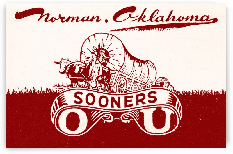 norman oklahoma university college wall art row one ou by Row One Brand