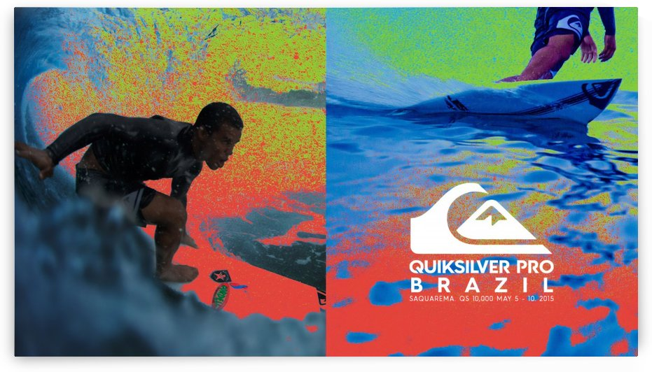 2015 QUIKSILVER PRO BRAZIL Surfing Competition Print - Surfing Poster by Surf Posters