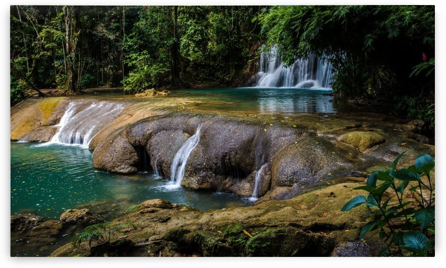 waterfall water river nature by Shamudy