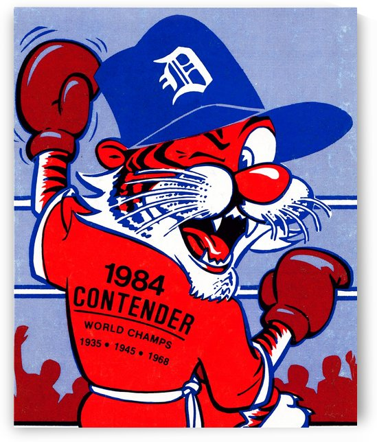 detroit tigers poster retro sports art 1980s posters by Row One Brand