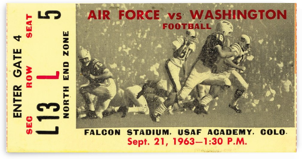 1963 Washington vs. Air Force  by Row One Brand