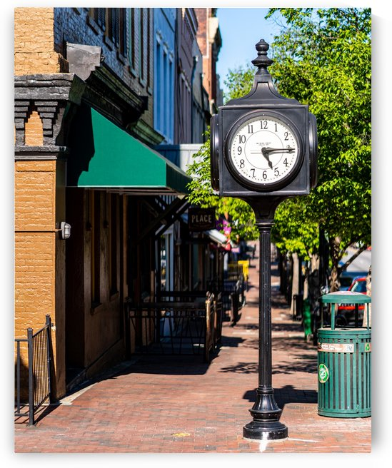 Clock in Downtown Athens GA 07266 by @ThePhotourist