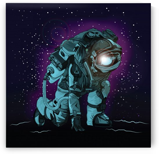 Astronaut spacesuit space poster by Shamudy