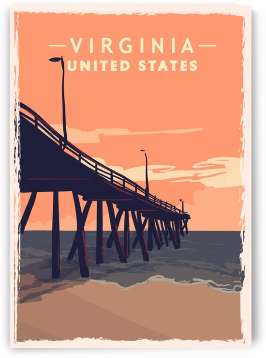 virginia retro poster usa virginia travel illustration united states america by Shamudy