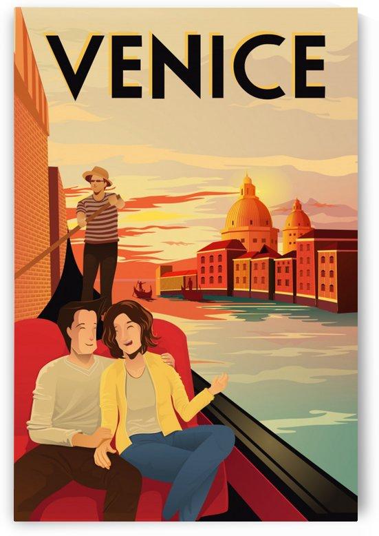 venice travel poster by Shamudy