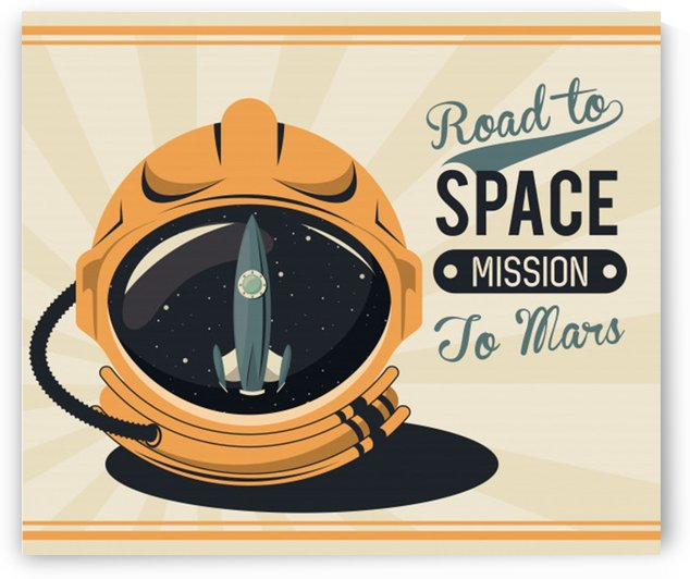 Life space vintage poster with set scenes by Shamudy