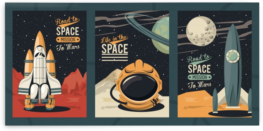 Life space poster with set scenes by Shamudy