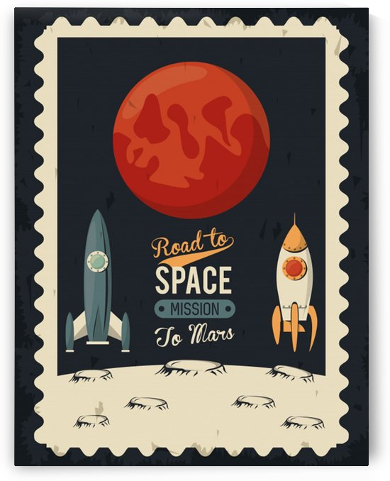 Life space poster with mars rocket rockets by Shamudy