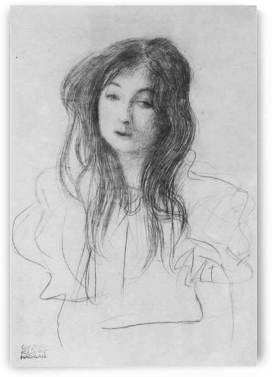 Girl with long hair by Klimt by Klimt