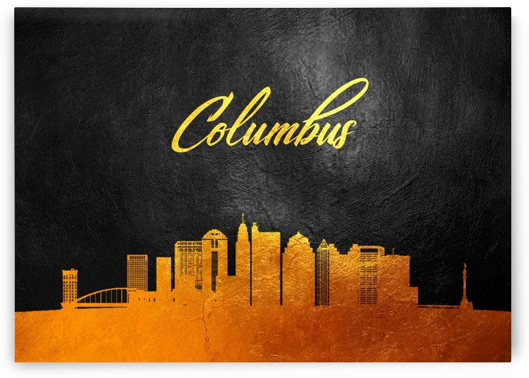 Columbus Ohio Skyline Wall Art by ABConcepts