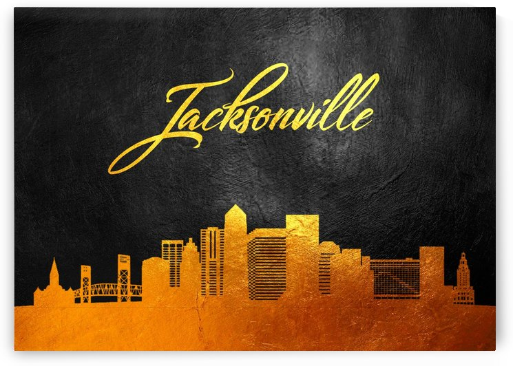 Jacksonville Florida Skyline Wall Art by ABConcepts