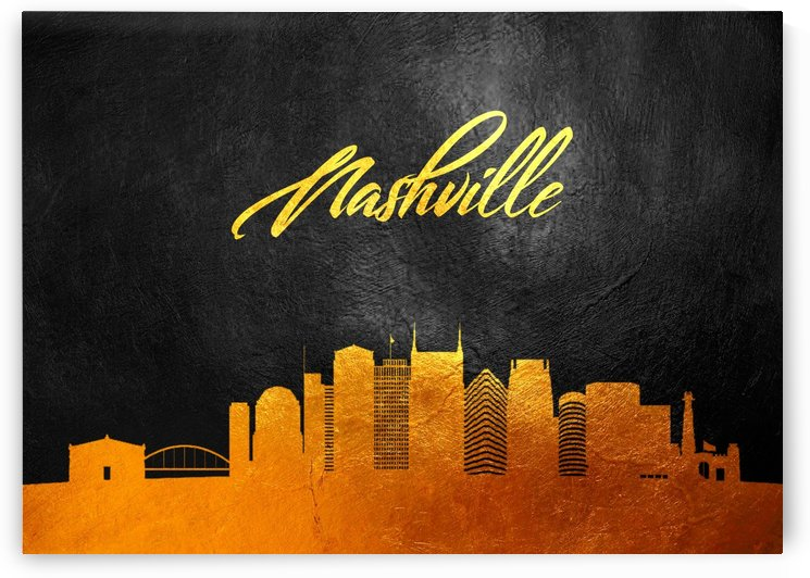 Nashville Tennessee Skyline Wall Art by ABConcepts