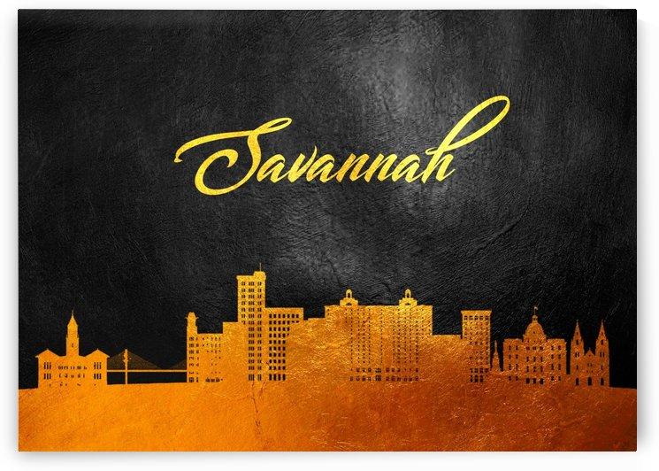 Savannah Georgia Skyline Wall Art by ABConcepts