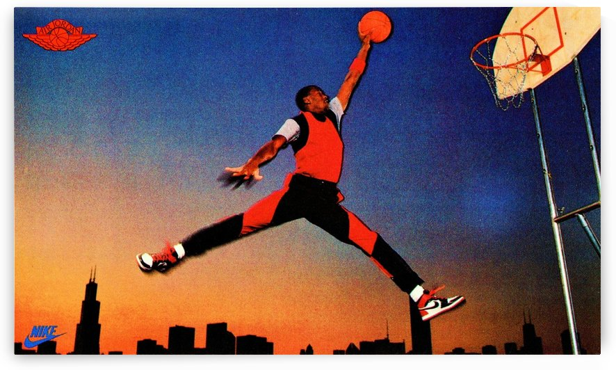 1985 Nike Promo Jordan Rookie Card Poster by Row One Brand