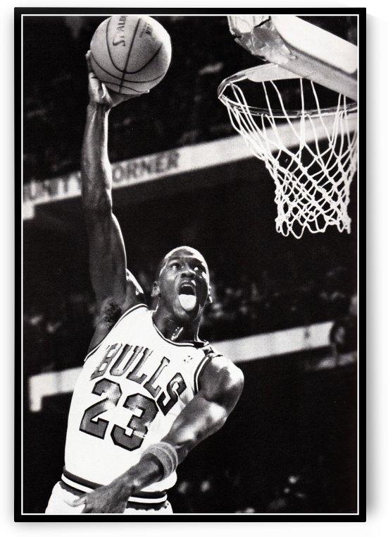 Michael Jordan Basketball Art Print by Row One Brand