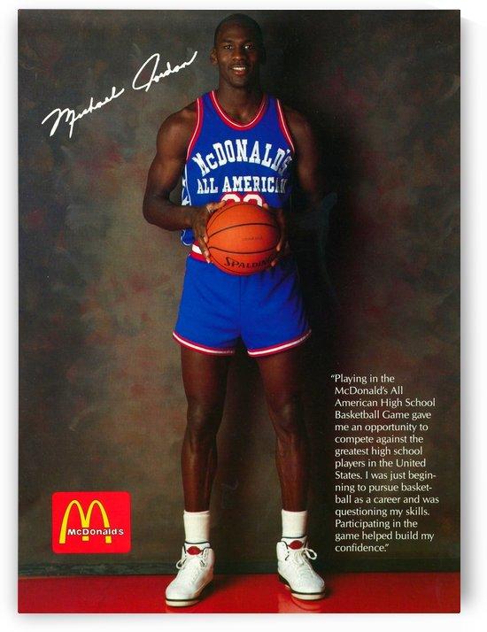 1987 McDonalds Michael Jordan Ad Poster by Row One Brand
