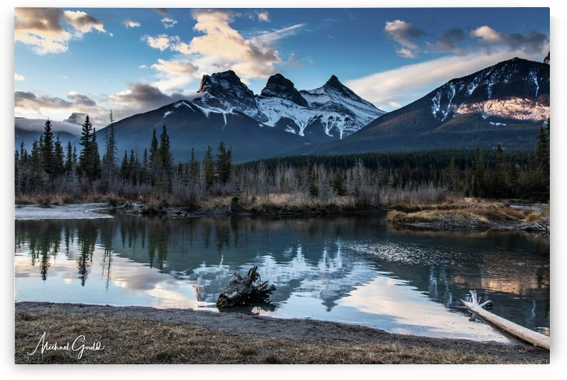 Three Sisters Canmore  by Mike Gould Photoscapes