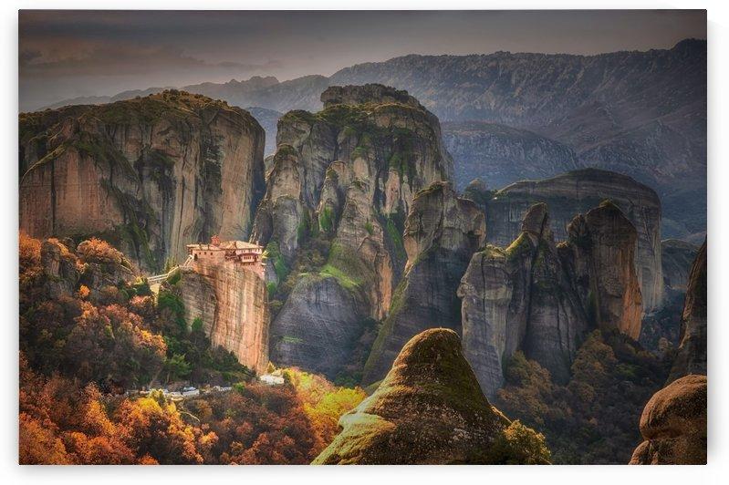 meteora rocks greece rock by Shamudy