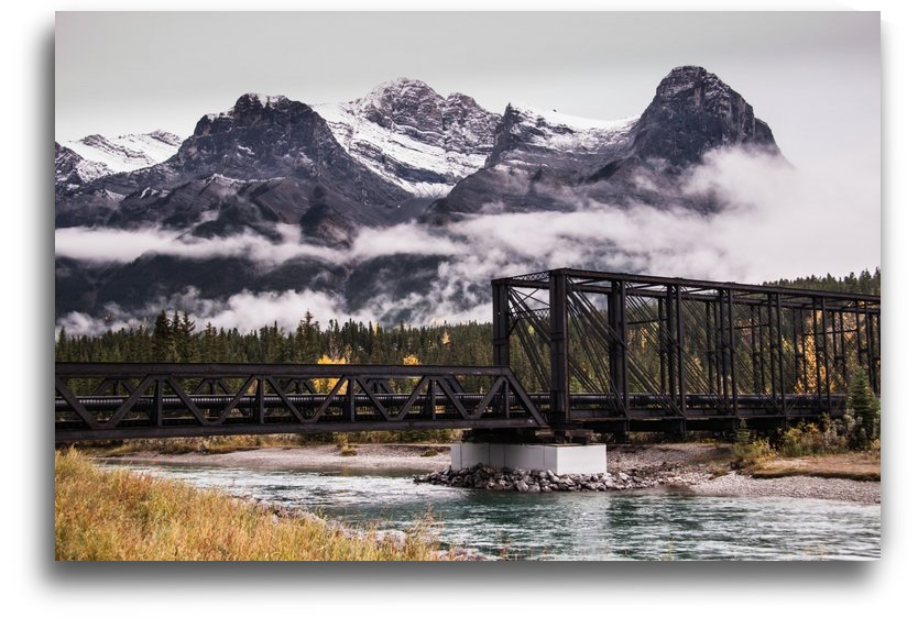 The Engine Bridge Canmore in Fall by Mike Gould Photoscapes