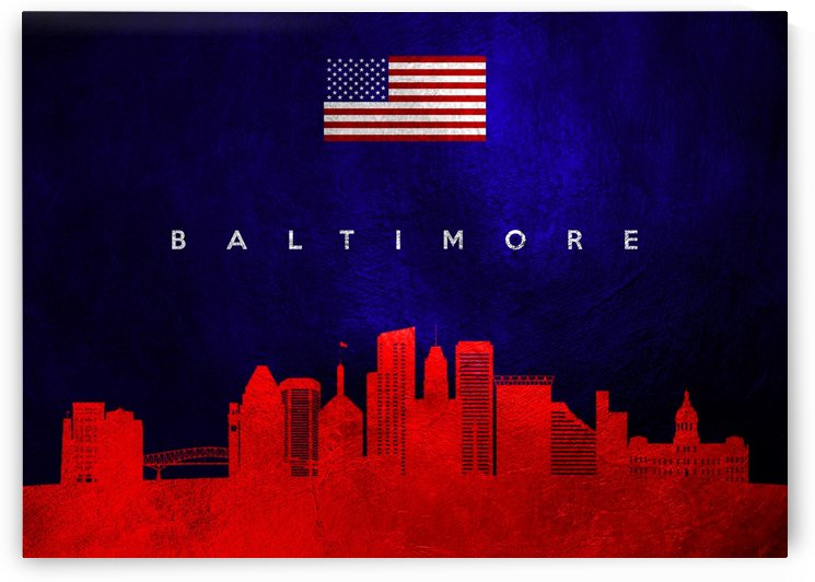 Baltimore Maryland Skyline Wall Art by ABConcepts