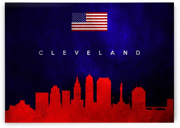 Cleveland Ohio Skyline Wall Art by ABConcepts
