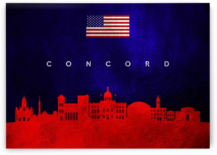 Concord Massachusetts Skyline Wall Art by ABConcepts