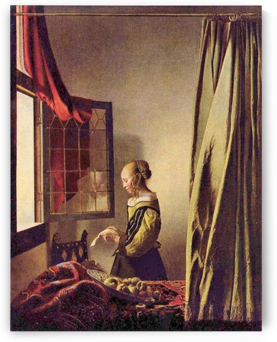 Girls at the open window by Vermeer by Vermeer