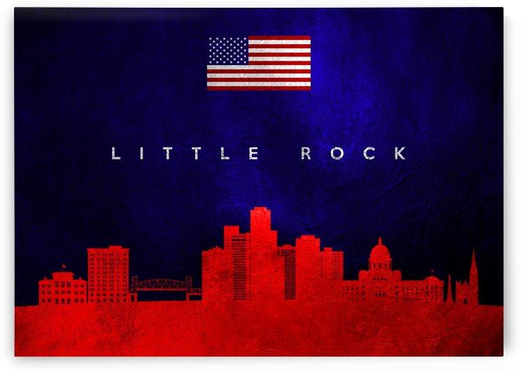 Little Rock Arkansas Skyline Wall Art by ABConcepts