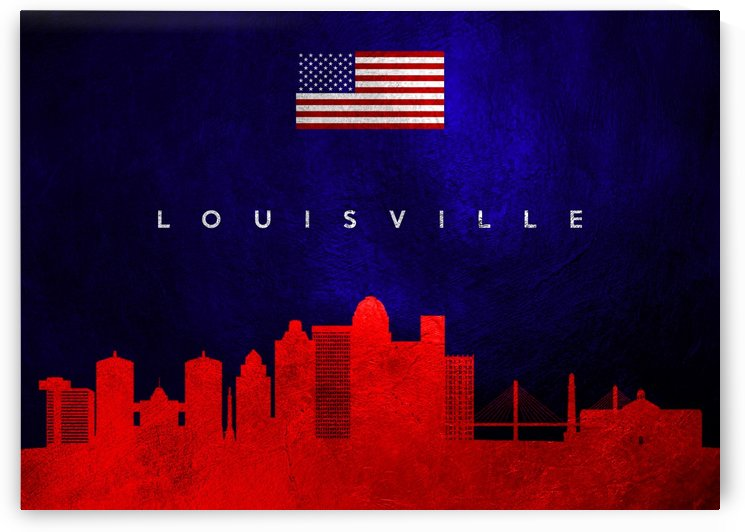 Louisville Kentucky Skyline Wall Art by ABConcepts