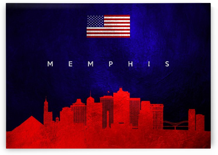 Memphis Tennessee Skyline Wall Art by ABConcepts
