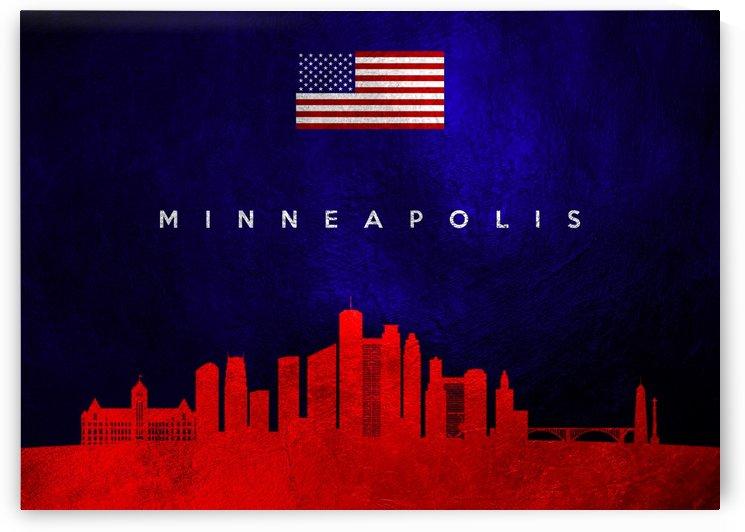 Minneapolis Minnesota Skyline Wall Art by ABConcepts