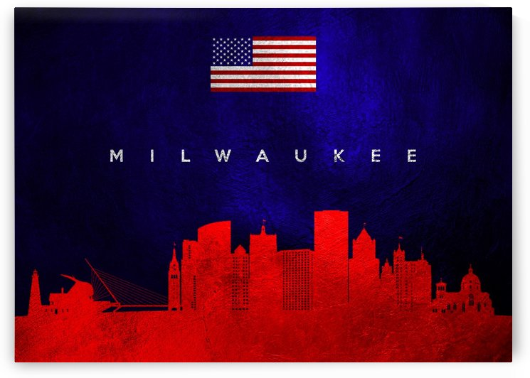 Milwaukee Wisconsin Skyline Wall Art by ABConcepts