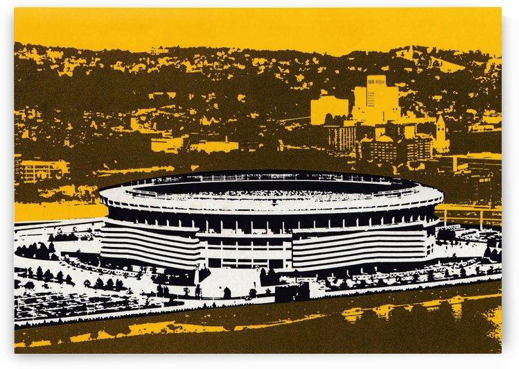 1977 Three Rivers Stadium Art by Row One Brand